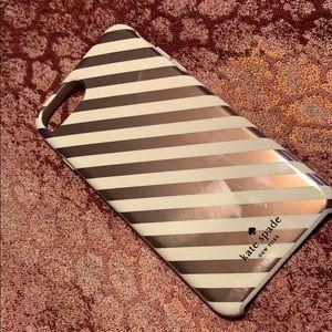 Kate Spade Rose Gold Stripe iPhone 7/8 Plus Case
